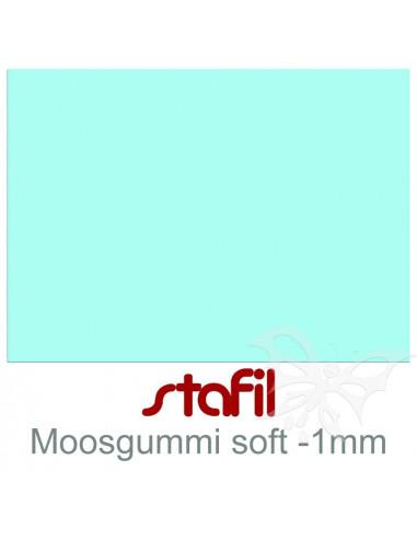 """Foglio moosgummi Soft """"Ceeste Pastello"""" 40x60cm 1mm"""