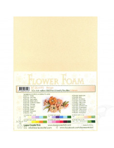 10 fogli A4 Flower Foam Soft 0,8mm Beige