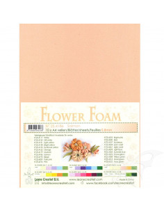 10 fogli A4 Flower Foam Soft 0,8mm Salmon