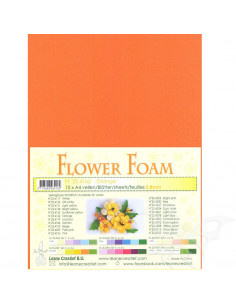 10 fogli A4 Flower Foam Soft 0,8mm Orange