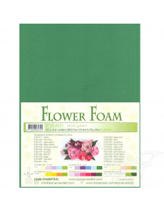 10 fogli A4 Flower Foam Soft 0,8mm Moss Green