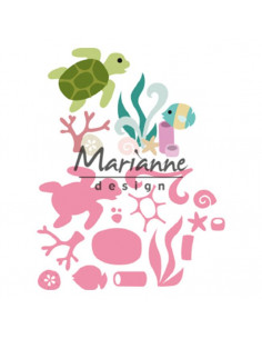 Fustella Marianne Design Collectables - Sealife by Marleen