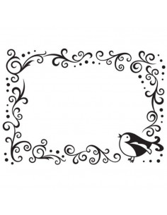 Libretto Embossing - Bird scroll frame EB1216-63