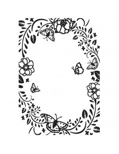 Libretto Embossing - Butterfly frame HSF016