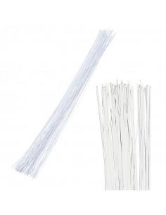 Set 50 pz. Filo metallico 0,75mm x 50cm - Bianco