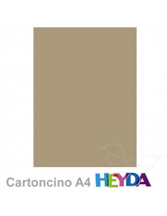 Cartoncino Heyda A4 300gr set 10fg. Tortora