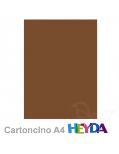 Cartoncino Heyda A4 300gr set 10fg. Marrone