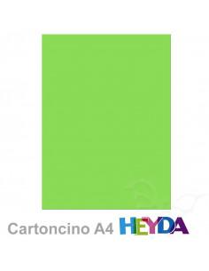 Cartoncino Heyda A4 300gr set 10fg. Verde Lime