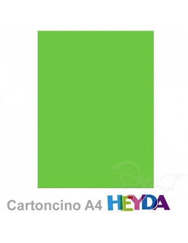 Cartoncino Heyda A4 300gr set 10fg. Verde Prato