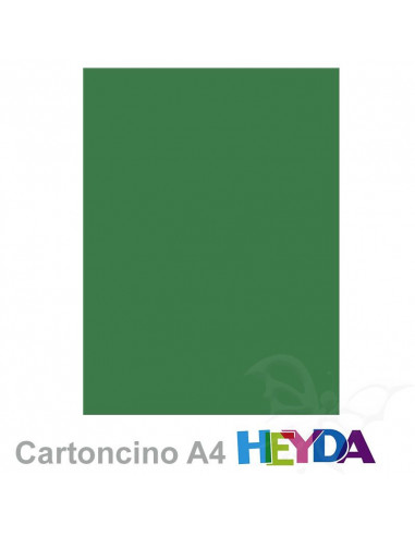 Cartoncino Heyda A4 300gr set 10fg. Verde Foglia