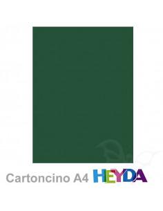 Cartoncino Heyda A4 300gr set 10fg. Verde Scuro