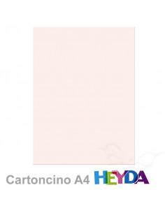 Cartoncino Heyda A4 300gr set 10fg. Rosa Carne Chiaro