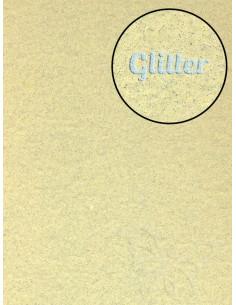 Feltro Glitter Crema 3mm 50x70cm