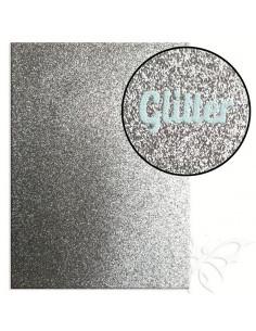 "Foglio fommy glitter ""SILVER"" 21x30cm 1,6mm"