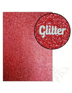"Foglio fommy glitter ""RED"" 21x30cm 1,6mm"