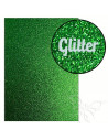 "Foglio fommy glitter ""GREEN"" 21x30cm 1,6mm"