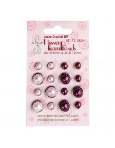Set 16 Perle fermacampioni Rosa e Bordeaux