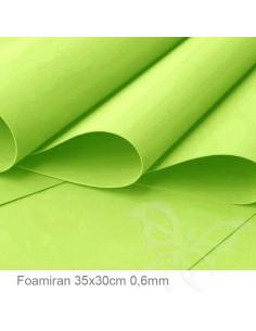 Foamiran 0,6mm 35x30cm - Verde Lime