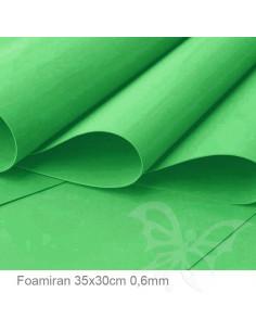 Foamiran 0,6mm 35x30cm - Verde