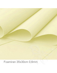 Foamiran 0,6mm 35x30cm - Giallo Chiaro