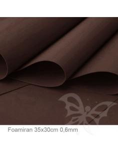 Foamiran 0,6mm 35x30cm - Marrone