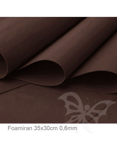 Foamiran 0,6mm 35x30cm - Marrone