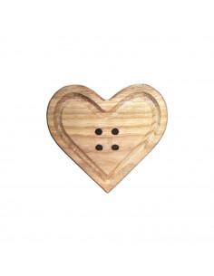 Bottone Cuore legno 19cm
