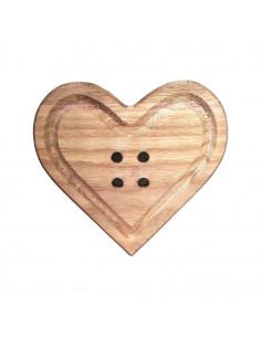 Bottone Cuore legno 24cm