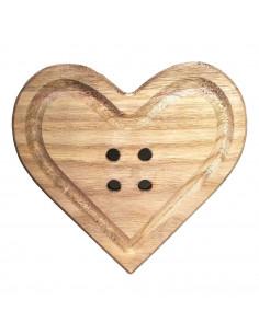 Bottone Cuore legno 29cm