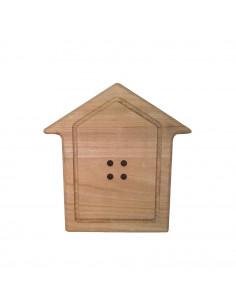Bottone Casetta legno 19cm