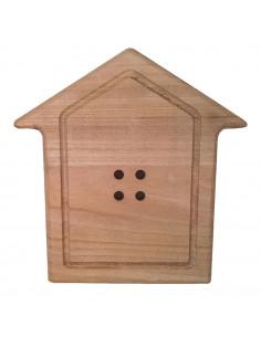 Bottone Casetta legno 29cm