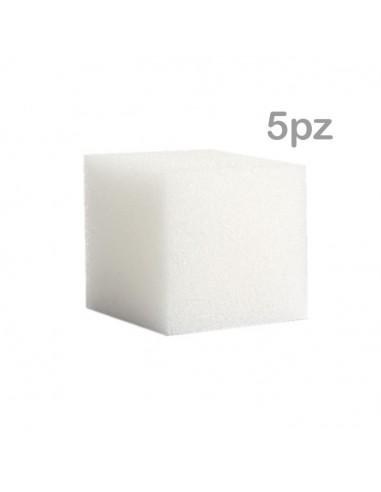 Set 5 spugne sintetiche 4x4x4cm