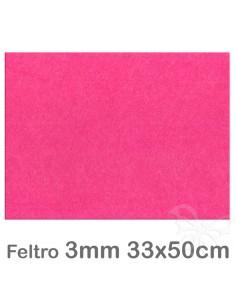 Feltro 33x50cm 3mm - Fucsia
