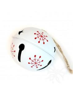 Sonaglio natalizio bianco 7cm