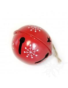 Sonaglio natalizio rosso 7cm