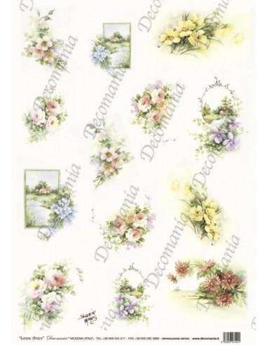 Carta riso Mazzolini fiori