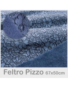 Feltro Pizzo 50x67cm Avio