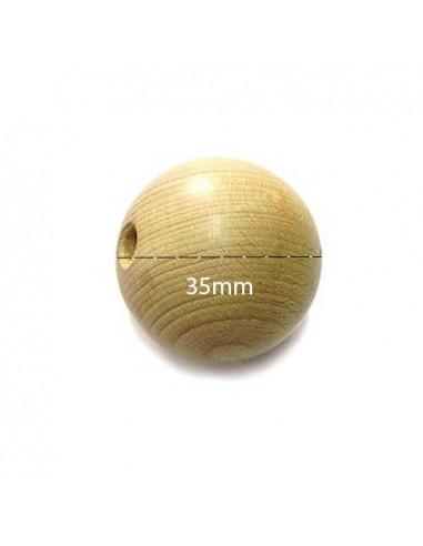 Set 4 Palline in legno di faggio ø35mm forate