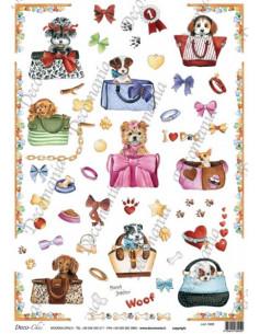 Carta riso I love Dog