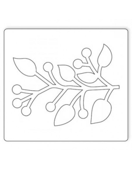 Fustella Bigz Sizzix Branch w leaves