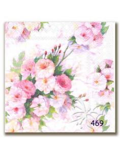 Tovagliolo roselline rosa