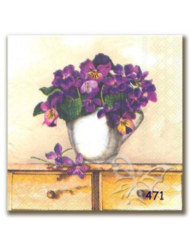 Tovagliolo vaso di fiori