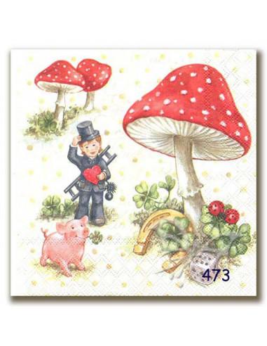 Tovagliolo bambino tra i funghi