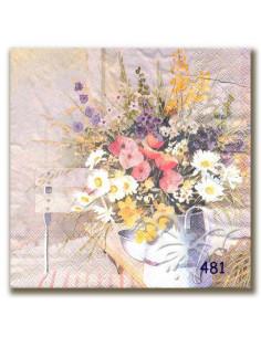 Tovagliolo brocca con fiori