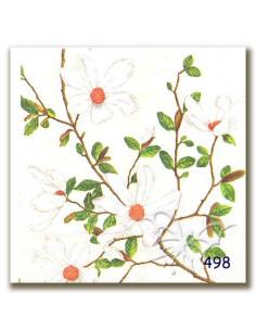 Tovagliolo ramo fiorellini bianchi