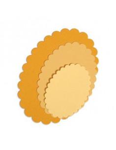 Fustella Sizzix Framelits Oval scallop 4pz
