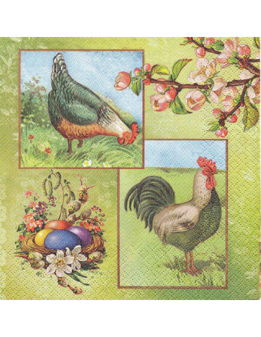 Tovagliolo galline e pulcini