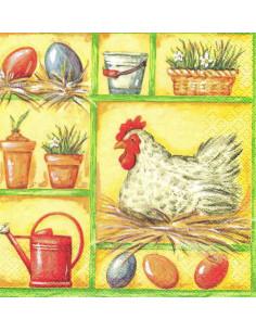 Tovagliolo galline e uova