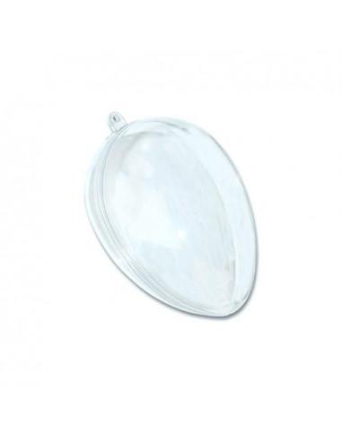 Uovo in plexiglass apribile H10cm