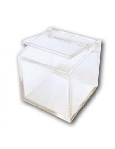 Scatolina plexiglass cubo cm 7,5x7,5